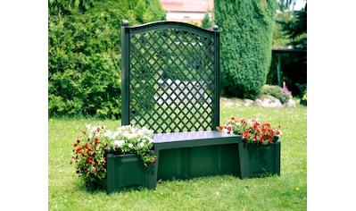 KHW Gartenbank »Kopenhagen«, Kunststoff, 174x49x139 cm, grün kaufen