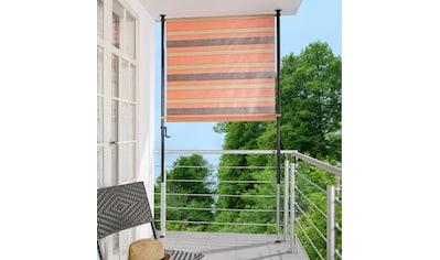 ANGERER FREIZEITMÖBEL Klemm - Senkrechtmarkise orange/braun, BxH: 150x225 cm kaufen