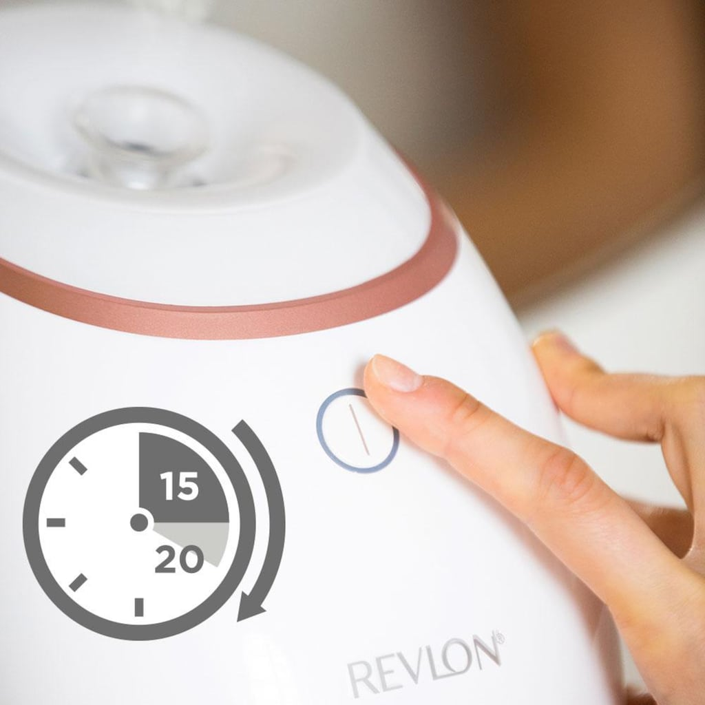 Revlon Gesichtssauna »Ultimate Glow RVSP3537E«, Belebender Dampf mit UV Technologie