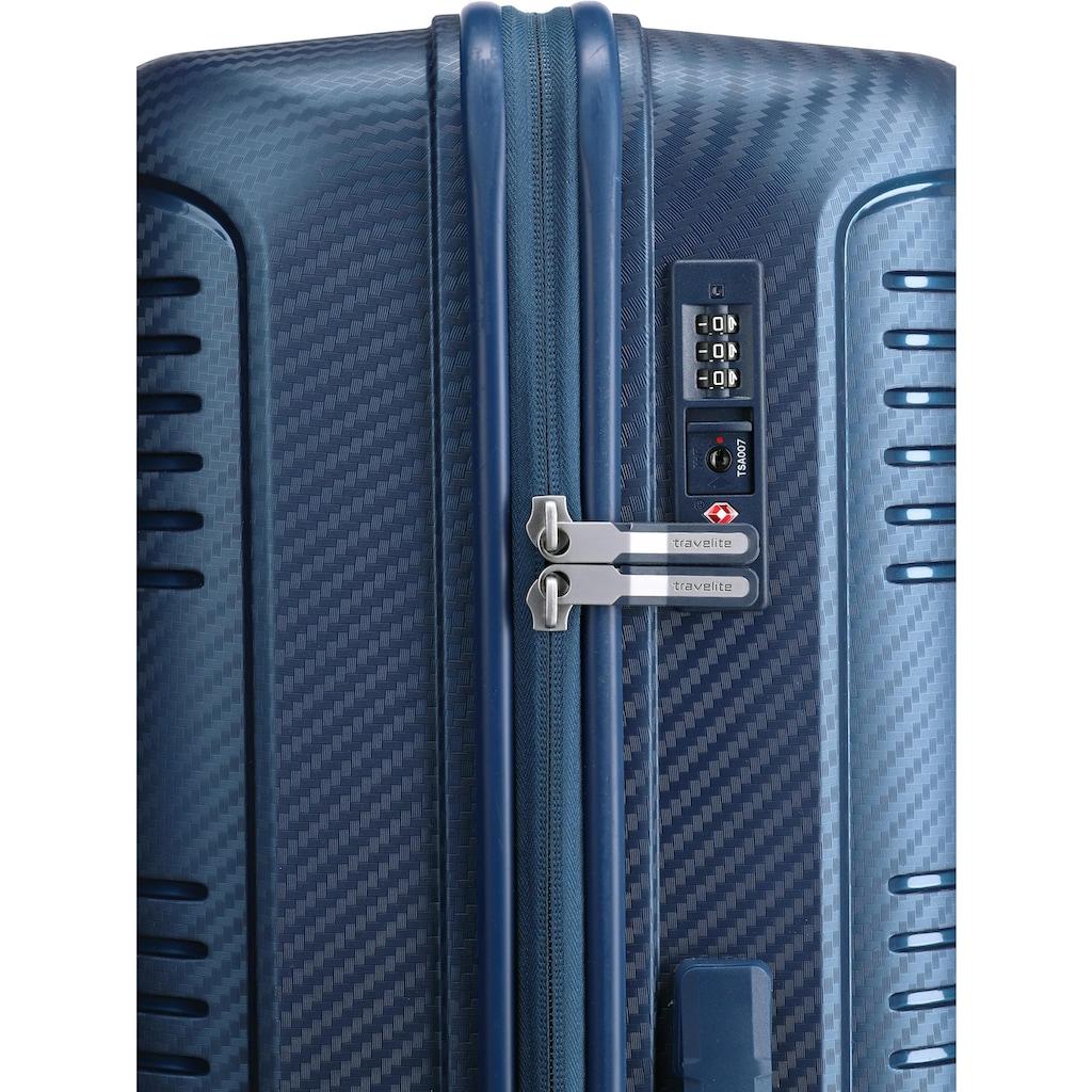 travelite Hartschalen-Trolley »Zenit blau, 77 cm«, 4 Rollen