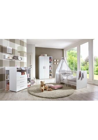 BMG Babyzimmer-Komplettset »Luis«, (Set, 6 St.), Bett + Wickelkommode + 2-trg. Schrank... kaufen