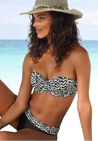 LASCANA Bügel-Bandeau-Bikini-Top »Clara«, mit Wickeloptik kaufen