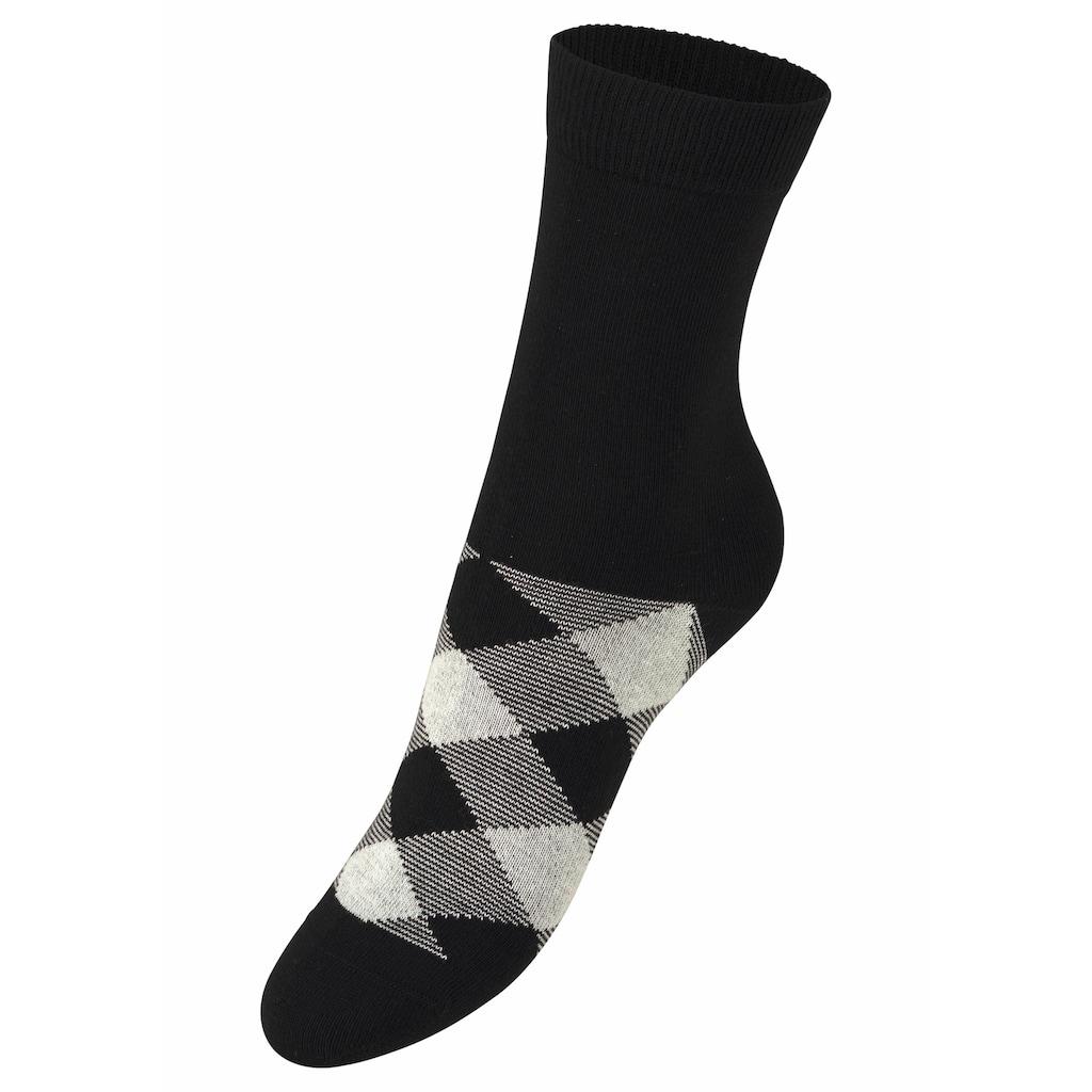 H.I.S Socken, (7 Paar), in angesagtem Rhombenmuster