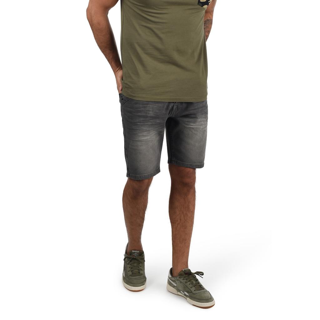 Indicode Jeansshorts »Alessio«, kurze Hose im Knitterfalten-Look