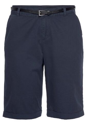 Vero Moda Shorts »VMFLASH BERMUDA BELT SHORTS«, (mit Gürtel in Lederoptik) kaufen