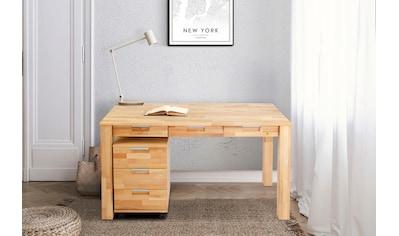 Home affaire Büro-Set »Robi«, (2 St.), aus massiv geöltem Buchenholz, bestehend aus... kaufen