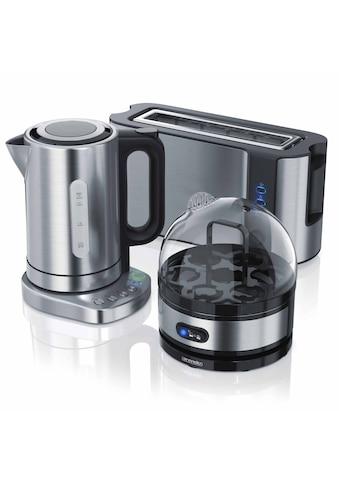 Arendo Frühstücks Set 3 - teilig in Edelstahl Optik »Wasserkocher / Toaster / Eierkocher« kaufen