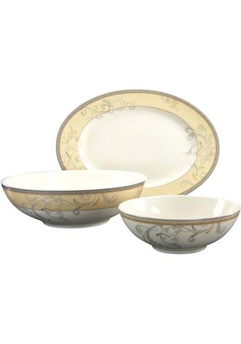 "CreaTable Servier - Set ""Villa Medici"", Porzellan, (Set, 1 Platte oval, 2 Schüsseln) kaufen"