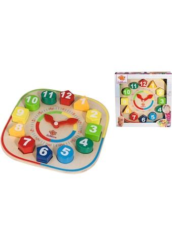 """Eichhorn Steckspielzeug """"Lernuhr mit Steckteilen"""" kaufen"""