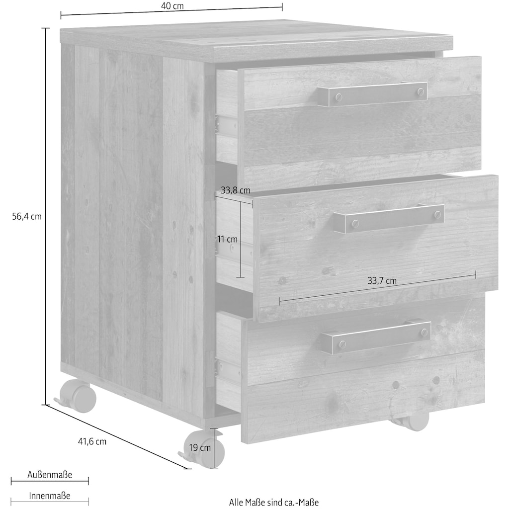 FORTE Rollcontainer »Clif«