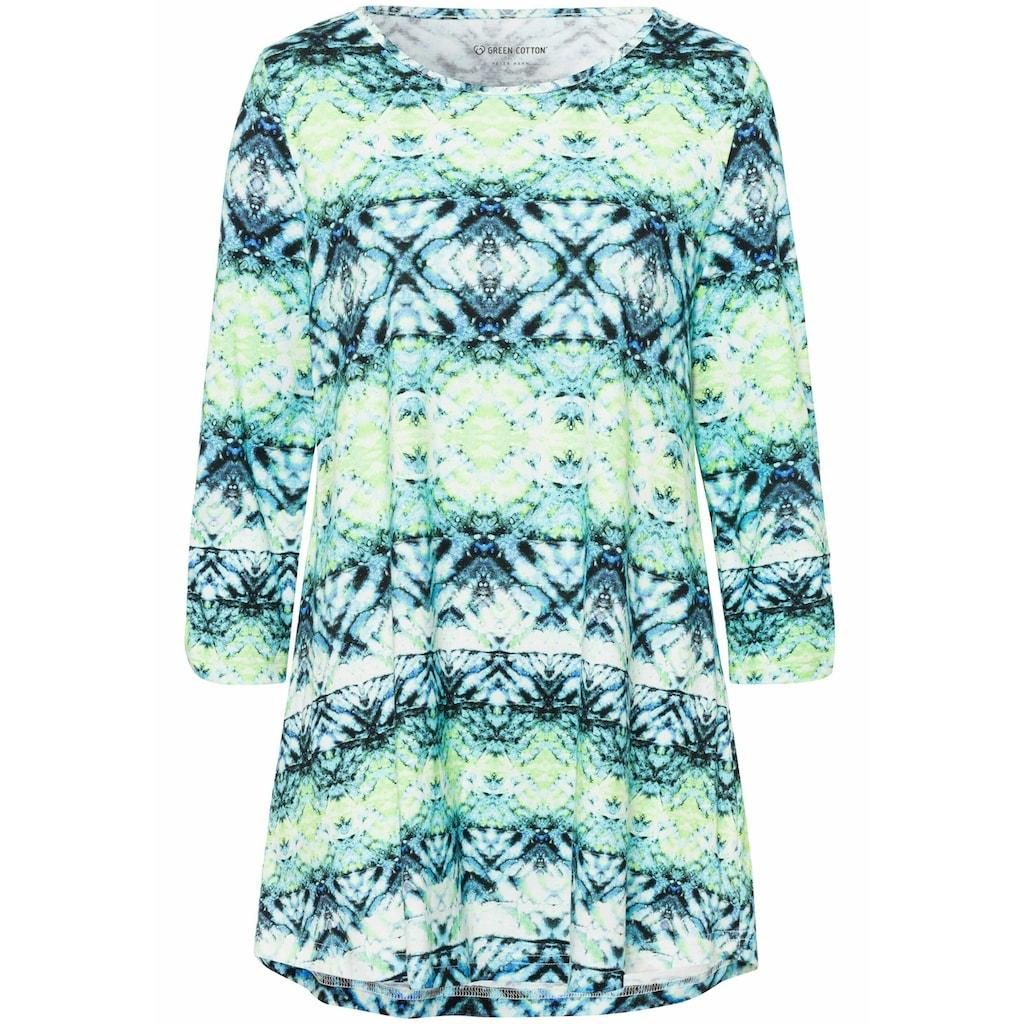 Green Cotton 3/4-Arm-Shirt »Longshirt«