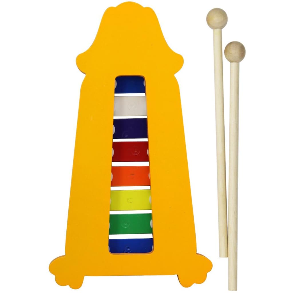 Clifton Spielzeug-Musikinstrument »Metallophon Hund«, mit 8 Tönen und Kinderlieder CD, Karaoke CD mit Heft