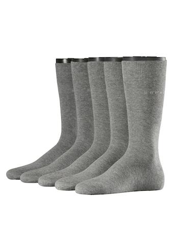 Esprit Socken »Uni 5-Pack«, (5 Paar), aus hautfreundlicher Baumwolle kaufen