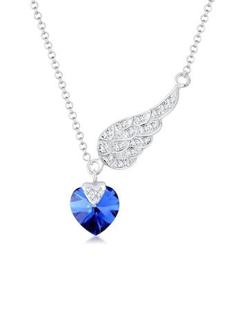 Elli Collierkettchen »Herz Flügel Kristalle 925 Silber« kaufen