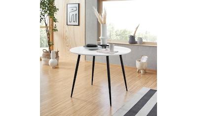 INOSIGN Esstisch »Dino«, rund, Ø 100 cm, schwarzes Metallgestell, Maximale... kaufen