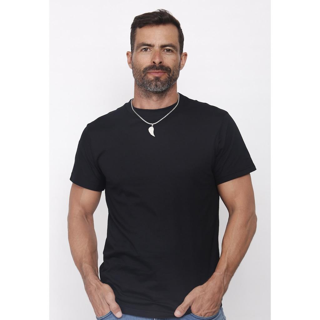 Kuzzoi Kettenanhänger »Herren Flügel Kettenanhänger Glück 925 Silber«
