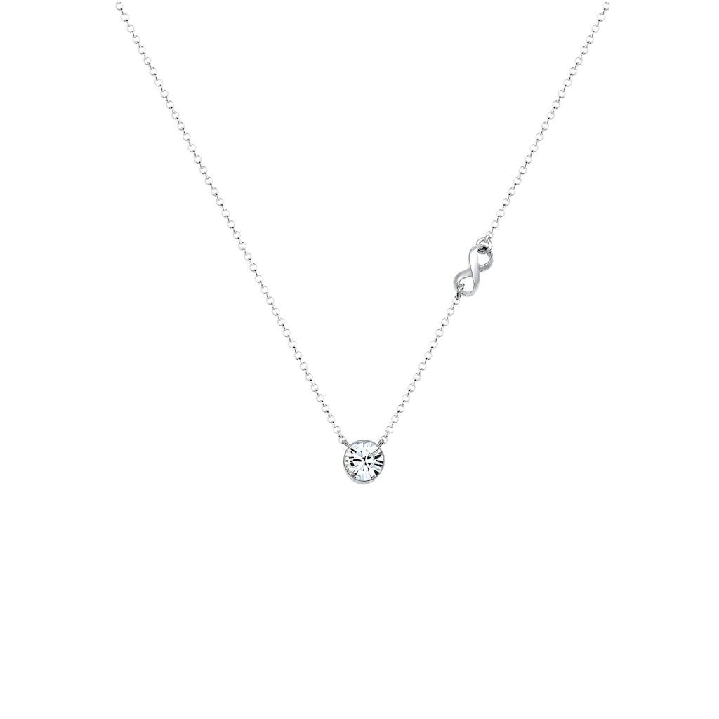 Elli Collierkettchen »Infinity Solitär Kristalle Silber«