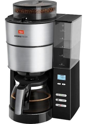Melitta Kaffeemaschine mit Mahlwerk Melitta AromaFresh 1021 - 01, Filterkaffeemaschine mit integriertem Mahlwerk, Papierfilter 1x4 kaufen