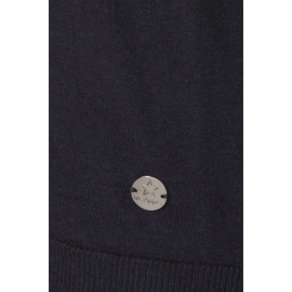 VIA APPIA Feminine Strickjacke mit floralen Details