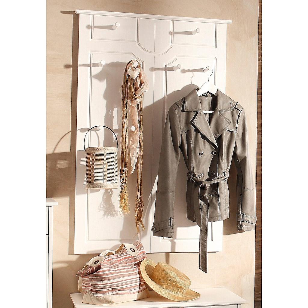 Home affaire Garderobenpaneel »Klera«, Mit 10 Kleiderhaken