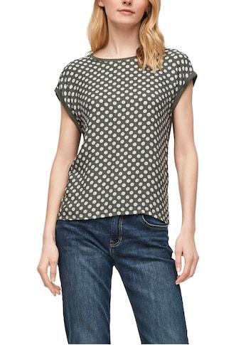 s.Oliver T-Shirt, im bedruckten Material-Mix kaufen