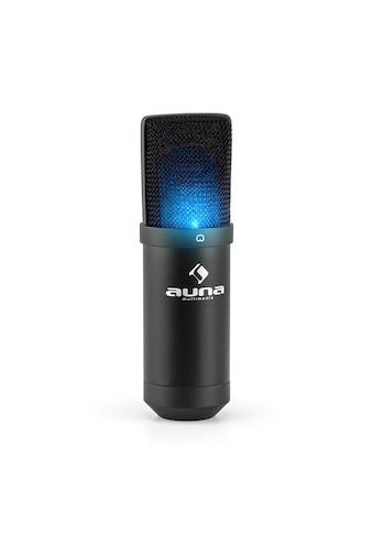 Auna USB Kondensator Mikrofon inkl. Mikrofonspinne Niere Studio »MIC 900 LED« kaufen