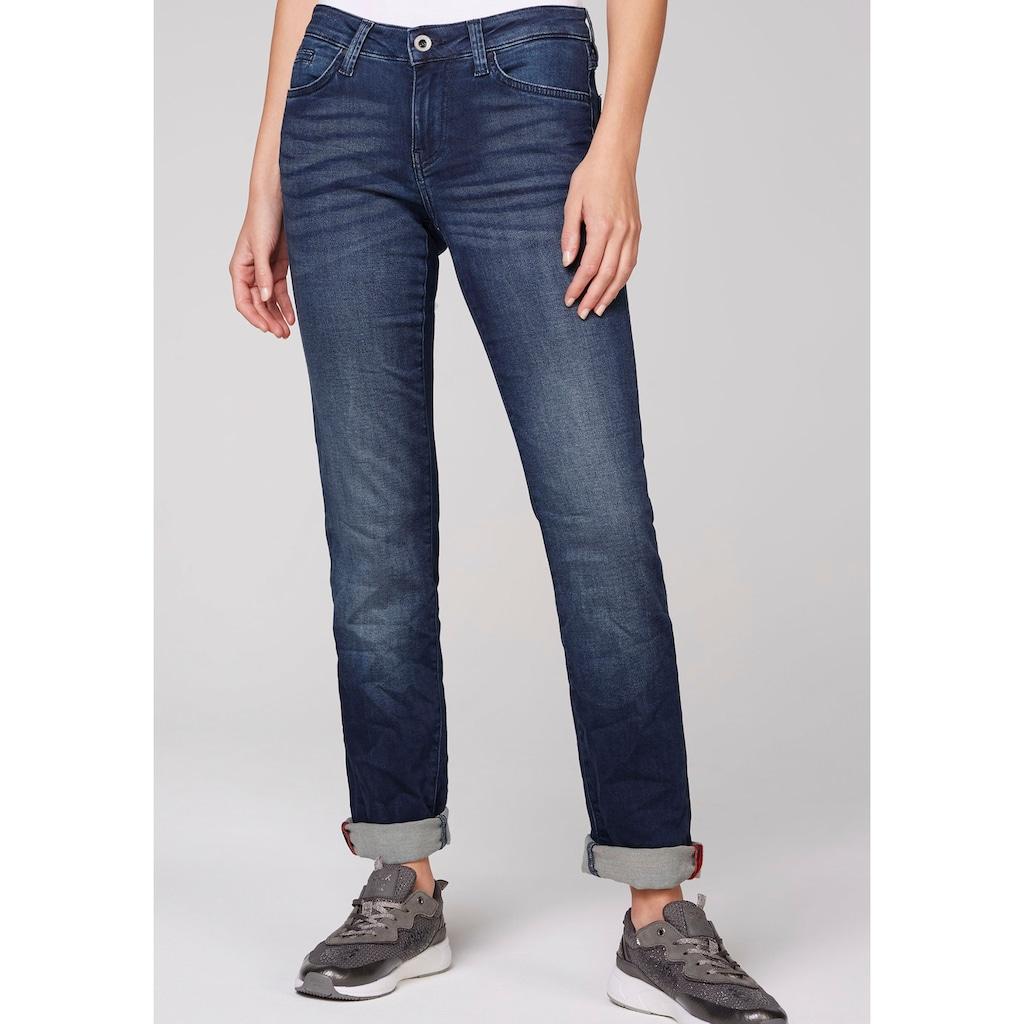 SOCCX Gerade Jeans, mit leichten Washed-Effekten