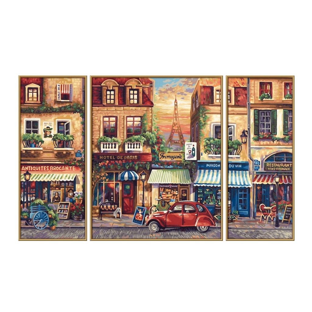 Schipper Malen nach Zahlen »Triptychon - Paris Nostalgie«, Made in Germany