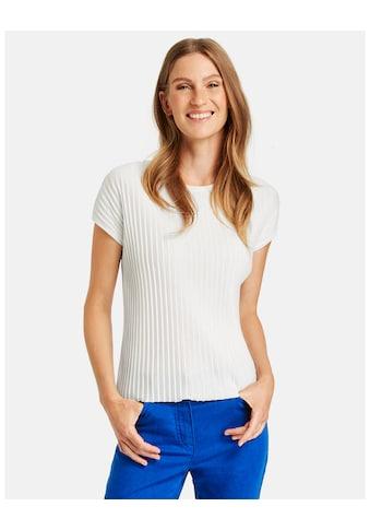 GERRY WEBER Kurzarmshirt »Shirt mit Rippenstruktur« kaufen