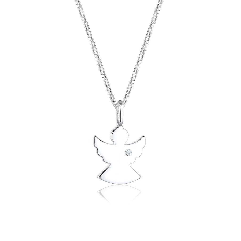 Diamore Collierkettchen »Engel Talisman Diamant (0.015 ct.) 925 Silber«