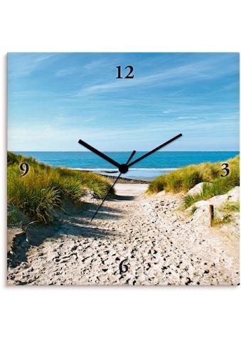 Artland Wanduhr »Strand mit Sanddünen und Weg zur See«, lautlos, ohne Tickgeräusche,... kaufen