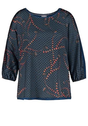 Samoon 3/4 - Arm - Shirt »Blusenshirt mit Material - Mix« kaufen