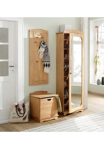 Home affaire Schuhschrank »Broga«, aus massiver Kiefer mit Spiegeltür kaufen