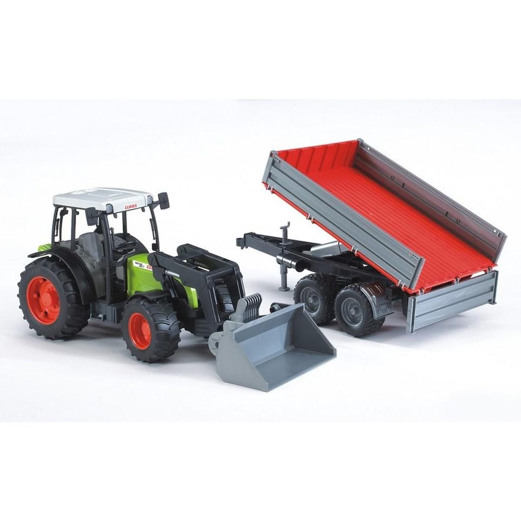 Bruder® Spielzeug-Traktor »Claas Nectis 267 F mit Frontlader und Bordwandanhänger«, Made in Germany