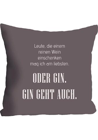 """Kissenhülle """"Wein & Gin"""" queence kaufen"""