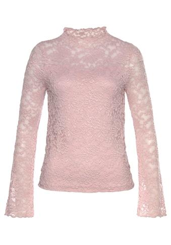 Laura Scott Spitzenshirt, mit ausgestelltem Tulpenärmel kaufen