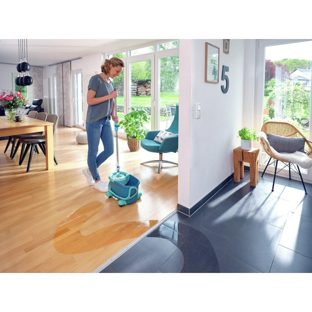 Leifheit Bodenwischer-Set »Set CLEAN TWIST Disc Mop Ergo Mobile«, inkl. Rollwagen und Eimer