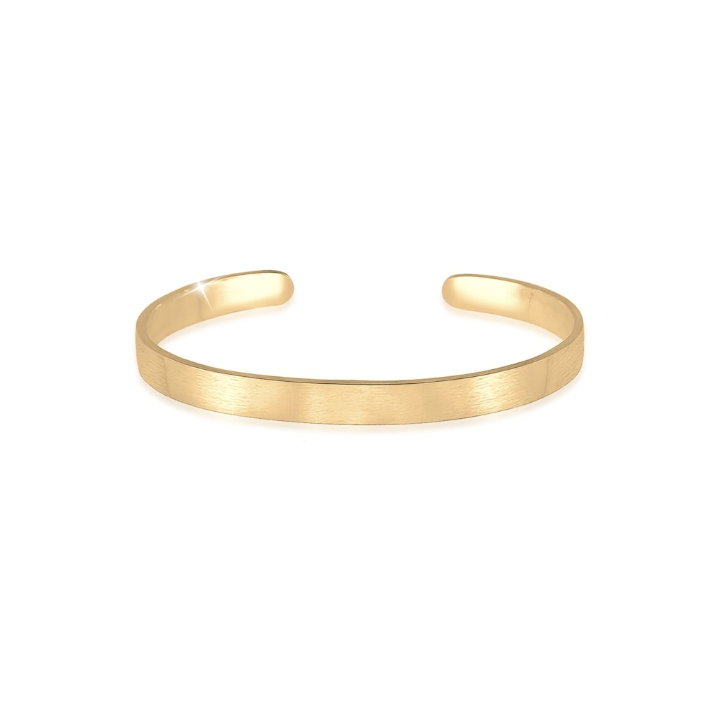 Kuzzoi Armband »Herren Basic Bangle Matt 925 Silber«