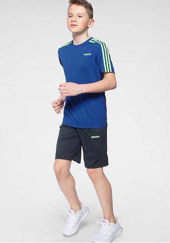 adidas Performance T - Shirt & Shorts »YOUTH BOYS TRAINING 3 STRIPES SET« (Set, 2 tlg.) kaufen