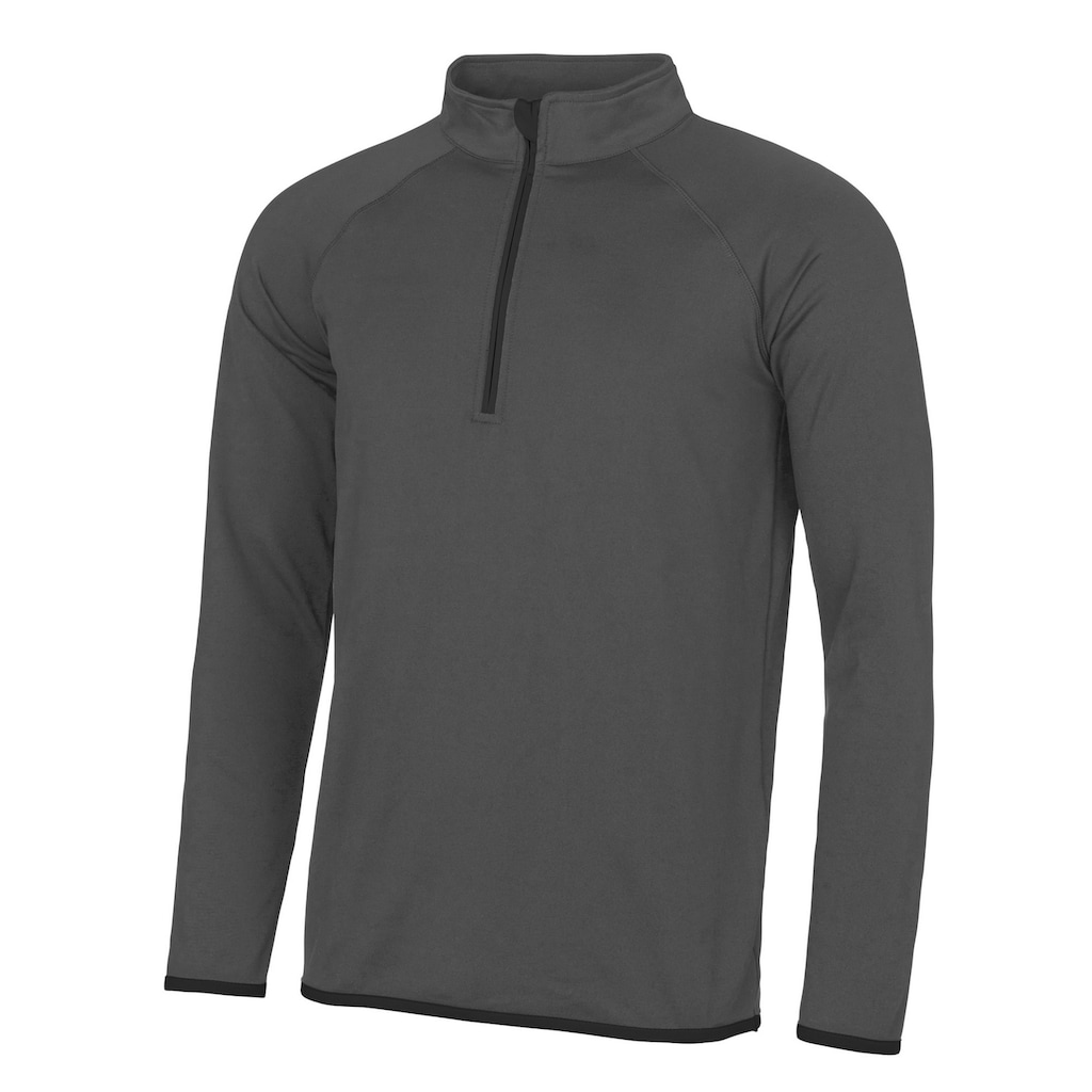 AWDIS Stehkragenpullover »Just Cool Herren Sweatshirt mit Reißverschluss bis zur Brust«