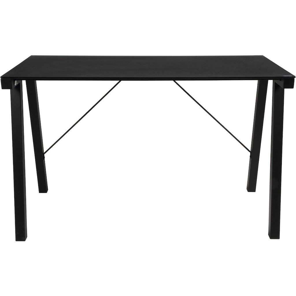 andas Schreibtisch »Tim«, schönes Metallgestell mit edler Glastischplatte, Breite 125 cm