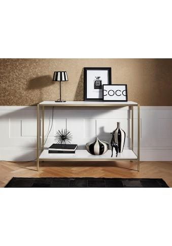 Leonique Konsolentisch »Cherlen«, mit zwei Ablageflächen und goldfarbenem Metallgestell kaufen