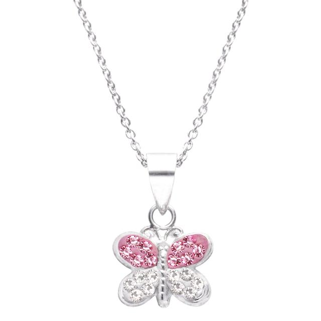 Firetti Kette mit Anhänger »Schmetterling«, mit Kristallen