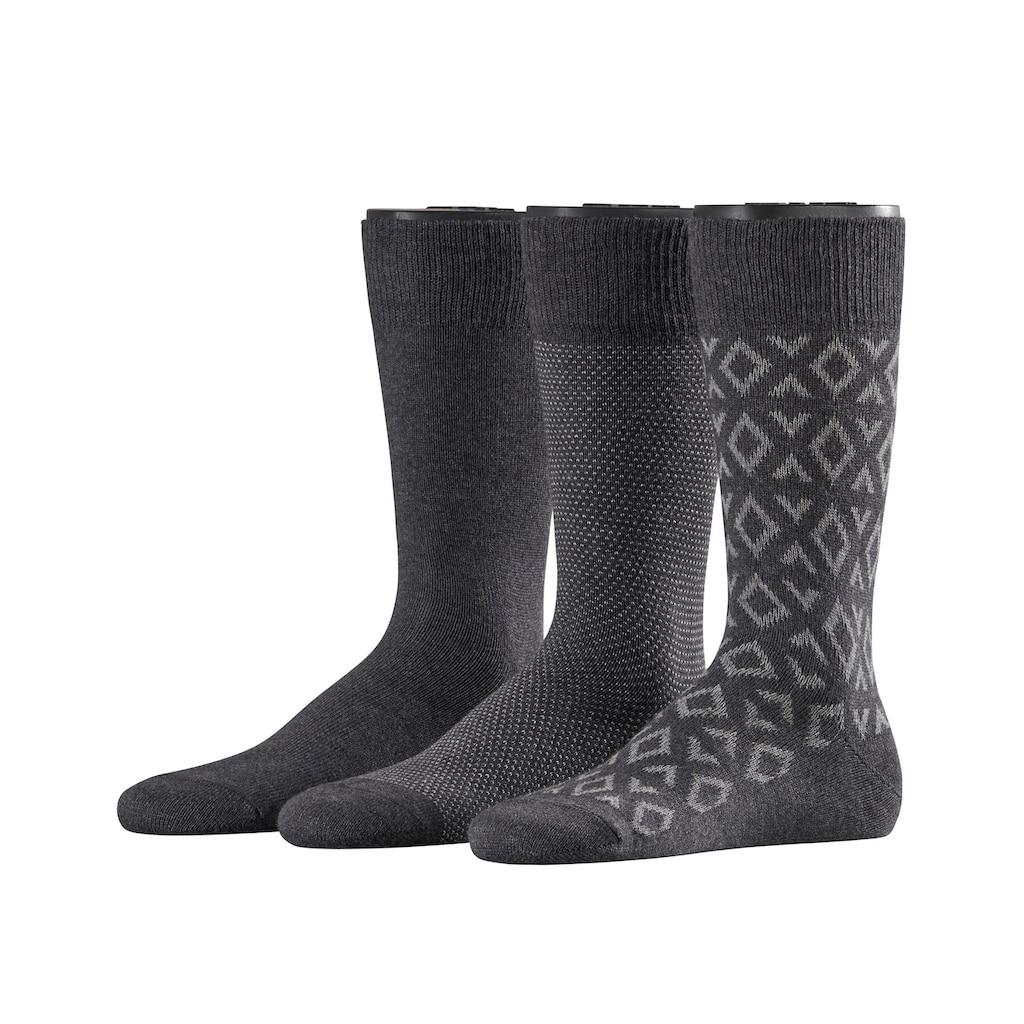Esprit Socken »Norwegian Piqué 3-Pack«, (3 Paar), One size fits all (Gr. 40-46)