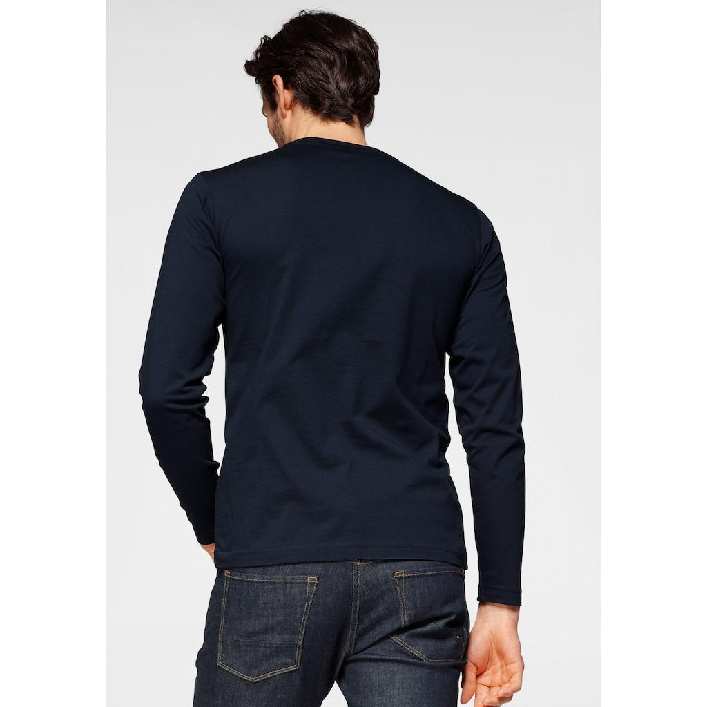 Calvin Klein Langarmshirt »COTTON LOGO LONG SLEEVE T-SHIRT«, Auffälliger Markenprint im Frontbereich