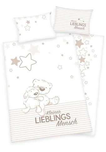 Baby Best Babybettwäsche »Kleiner Lieblingsmensch«, mit niedlichem Teddy-Motiv und... kaufen