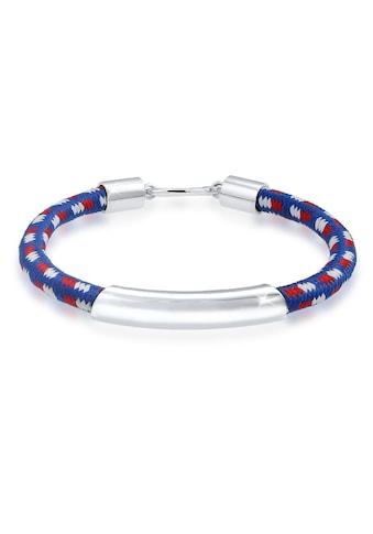 Kuzzoi Armband »Haken Basic Textil 925 Sterling Silber« kaufen