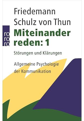 Buch »Miteinander reden 1 / Friedemann Schulz von Thun« kaufen