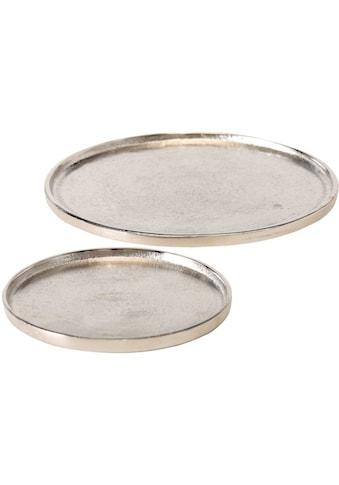 BOLTZE Dekoteller »Valomi«, aus Aluminium, Ø ca. 18 cm und 27 cm kaufen