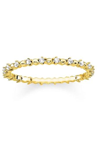 """THOMAS SABO Fingerring »Ring """"Dots mit weißen Steinen"""", TR2153 - 414 - 14 - 48, 50, 52, 54, 56, 58« kaufen"""